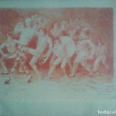 Arte: LITOGRAFIA ZARABANDA DEL AUTOR MARIANO FERNANDEZ CORNEJO. Lote 63895999