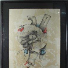 Arte: K3-009. CUXART. LITOGRAFIA SOBRE PAPEL. TEMA ABSTRACTO. MED S XX.. Lote 44156158