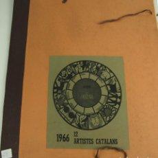 Arte: N6-003. CALENDARIO DEL AÑO 1966. 12 LITOGRAFIAS. FIRMADOS POR ARTISTAS CATALANES.. Lote 46539484