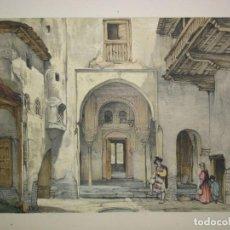 Arte: VISTA DE LA MEZQUITA DE LA ALHAMBRA DE GRANADA DE J. F. LEWIS. Lote 64664911