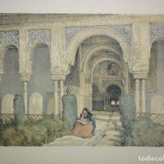 Arte: SALA DE LAS DOS HERMANAS DE LA ALHAMBRA DE GRANADA DEL ARTISTA J. F. LEWIS. Lote 64666031