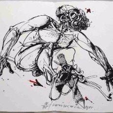 Arte: VELICKOVIC VLADIMIR LITOGRAFÍA ORIGINAL CUERPOS, FIRMADA Y NUMERADA, 28X76 CM. 75 EJEMPLARES (1985). Lote 65464170