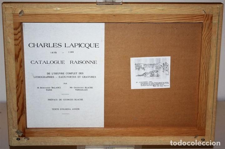 Arte: J2-041. EL ACCIDENTE. CHARLES LAPICQUE (1898-1988). LITOGRAFÍA EN NEGRO. FRANCIA. 1950 - Foto 9 - 66841630