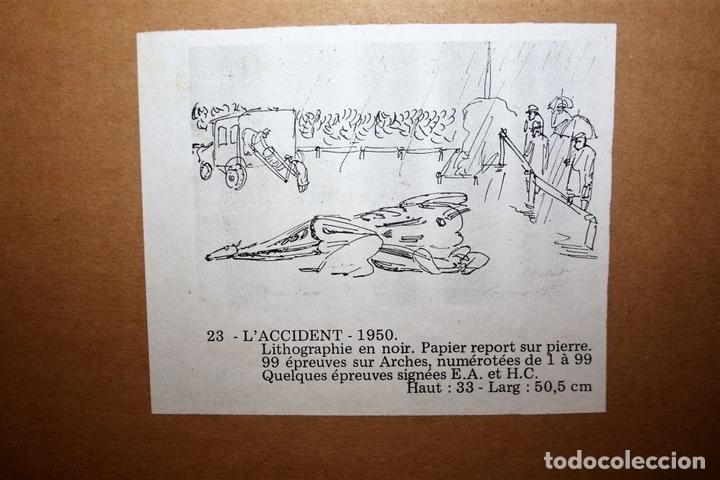 Arte: J2-041. EL ACCIDENTE. CHARLES LAPICQUE (1898-1988). LITOGRAFÍA EN NEGRO. FRANCIA. 1950 - Foto 11 - 66841630