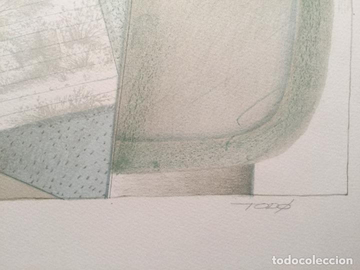 Arte: FRANCESC TODÓ , BUENA LITOGRAFIA FIRMADA , NUMERADA 87/99 Y ENMARCADA - Foto 4 - 66870798