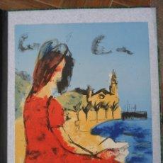 Arte: LITOGRAFIA PERICO PASTOR . TIRAJE 90 . 60X45 CM.CAFE EN SITGES. Lote 67134609
