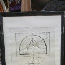 Arte: LITOGRAFIA. WALTER VALENTINI. PROGETTO 1. LITOGRAPH EMBOSSING. Lote 69100577