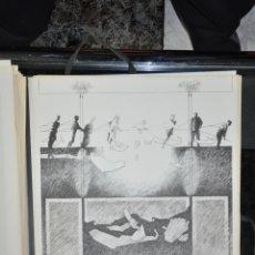 Arte: DIEGO SANTOS , OBRA DE LA CARPETA CIUDAD DEL PARAISO , FIRMADA Y JUSTIFICADA , MÁLAGA . Lote 69242653