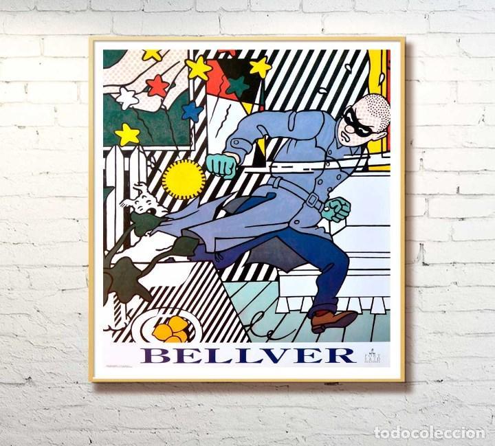 Arte: BELLVER CARTEL ORIGINAL -ANTIFAZ- 80s- 70x69cm - Foto 2 - 69363177