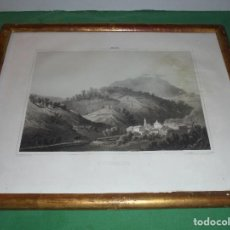 Arte: (M) GUIPUZCOA - ARECHAVALETA , ANTIGUA LITOGRAFIA CON MARCO DORADO DE EPOCA S. XIX - P. . Lote 69394693