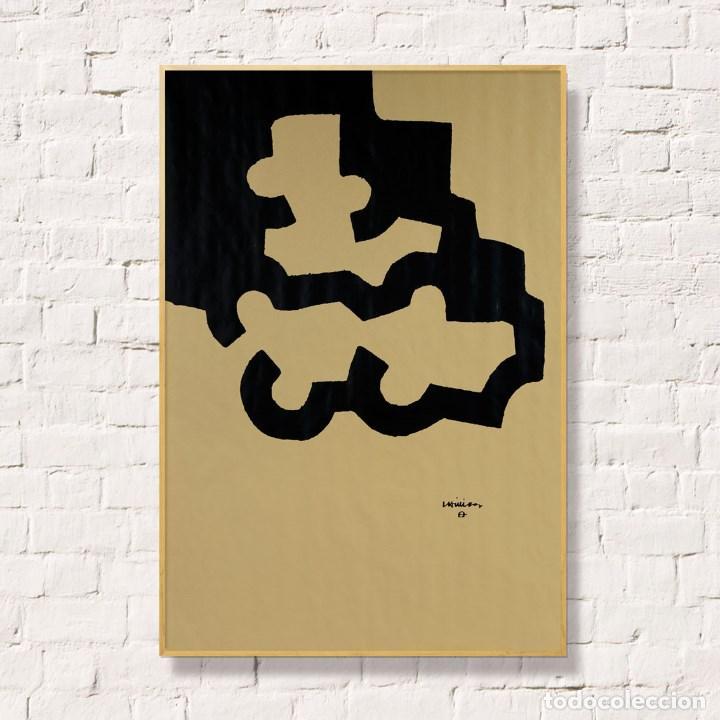 CHILLIDA. LITOGRAFIA SOBRE PAPEL CRAFT. 80X56CM (Arte - Litografías)