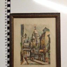 Arte: LITOGRAFIA ENMARCADA MARIUS GIRARD PARIS . Lote 69670517