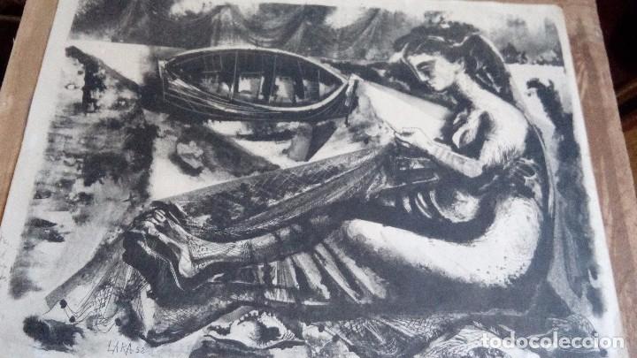 CARLOS PASCUAL DE LARA, LITOGRAFIA45X35,SIN ENMARCAR, FIRMADA, DEDICADA Y FECHADA A MANO EN 1952 (Arte - Litografías)