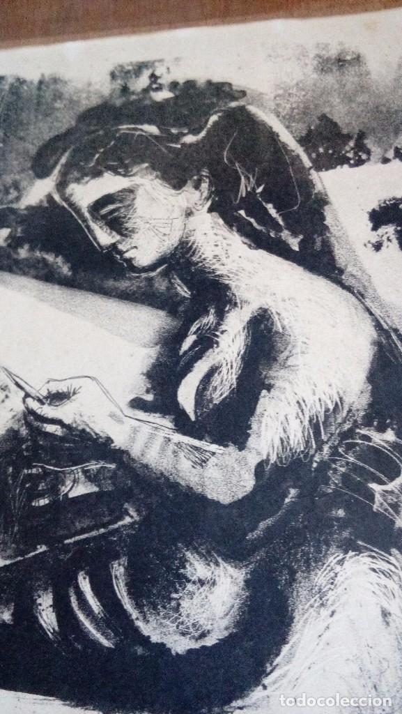 Arte: CARLOS PASCUAL DE LARA, Litografia45x35,sin enmarcar, firmada, dedicada y fechada a mano en 1952 - Foto 2 - 69689945
