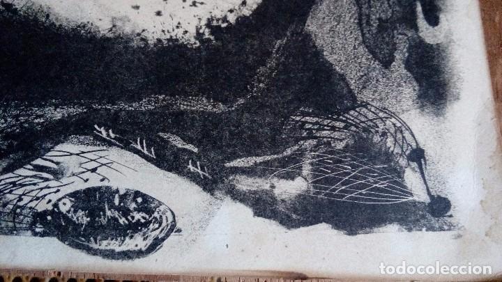 Arte: CARLOS PASCUAL DE LARA, Litografia45x35,sin enmarcar, firmada, dedicada y fechada a mano en 1952 - Foto 3 - 69689945