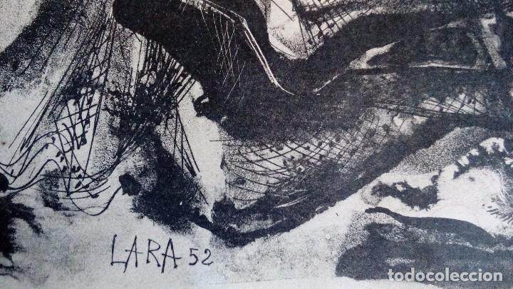 Arte: CARLOS PASCUAL DE LARA, Litografia45x35,sin enmarcar, firmada, dedicada y fechada a mano en 1952 - Foto 4 - 69689945