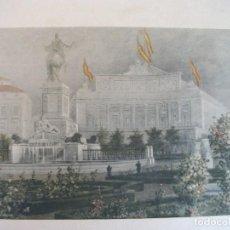 Arte: MAGNÍFICA LITOGRAFÍA PALACIO REAL - MADRID. Lote 71461911