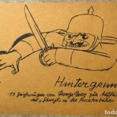 Arte: LITOGRAFÍA ORIGINAL DE GEORGE GROSZ. DADA. NUEVA OBJETIVIDAD ALEMANA. WEIMAR. HINTERGRUND. 1928. . Lote 71646967