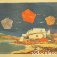 Arte: LITOGRAFÍA ORIGINAL DE MIQUEL IBARZ, FIRMADA Y NUMERADA. Lote 72784459