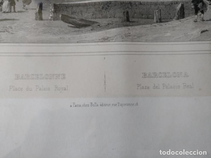 Arte: NICOLAS CHAPUY, BARCELONA , Plaza Palacio Real. 1844 - Foto 3 - 73571419