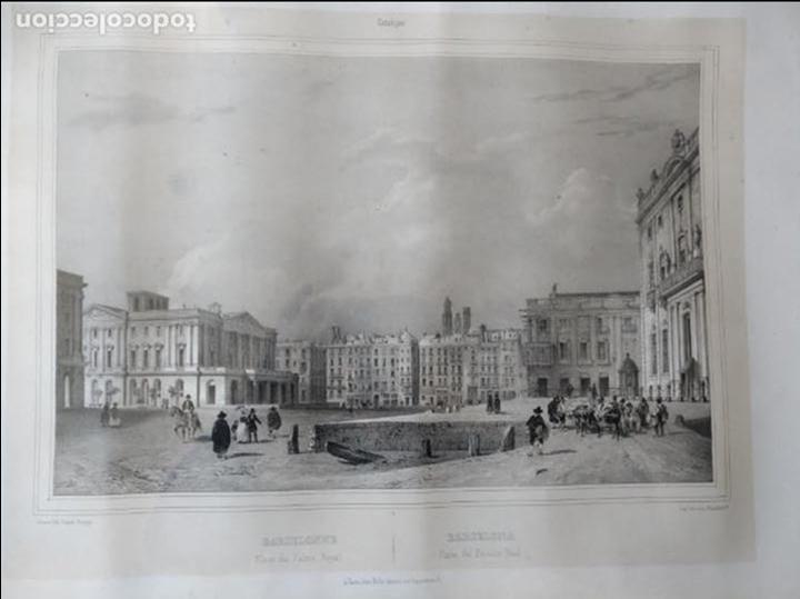 Arte: NICOLAS CHAPUY, BARCELONA , Plaza Palacio Real. 1844 - Foto 4 - 73571419