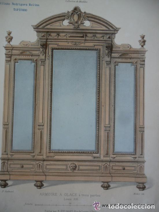 litografia de colección de muebles - armoire a - Comprar Litografías ...