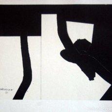 Arte: EDUARDO CHILLIDA - LITOGRAFIA OFFSET 1977 . 34 X 24 CM.. Lote 73740583