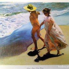 Arte: LITOGRAFIA GRANDE DE - JOAQUIN SOROLLA Y BASTIDA - AL AGUA .TAMAÑO 54 X 36 CMS. Lote 74228855