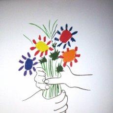 Arte: PABLO PICASSO. LITOGRAFIA FIRMADA Y NUMERADA EN EDICION LIMITADA. LE BOUQUET. 21.4.1958. Lote 74386475