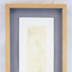 Arte: LITOGRAFÍA ENMARCADA SOBRE PAPEL - FRANCESC ARTIGAU. DESNUDO FEMENINO - NUMERADA 2/100. Lote 74587183