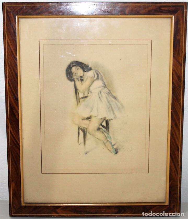 lámina impresión enmarcada bailarina de f. gisb - Comprar ...