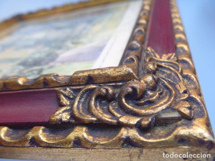 pareja antiguo marco con litografía manuel losa - Comprar ...