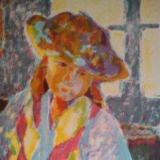Arte: TERESA LLACER. LITOGRAFIA FIRMADA Y NUMERADA A LÁPIZ 75X56 CM. Lote 76771603