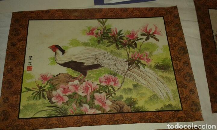 Arte: 6 litografías de personajes orientales y pájaros - Foto 2 - 77858647
