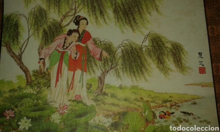 Arte: 6 litografías de personajes orientales y pájaros - Foto 3 - 77858647