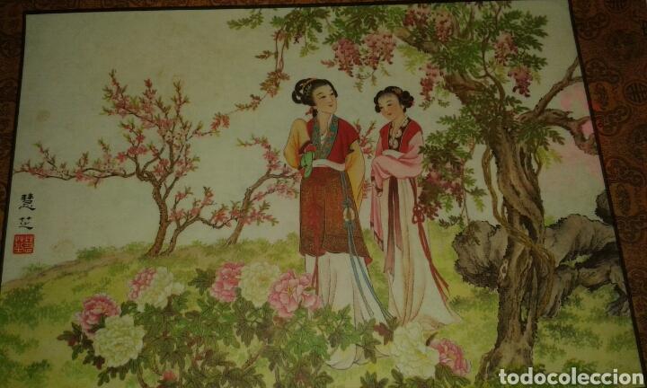 Arte: 6 litografías de personajes orientales y pájaros - Foto 4 - 77858647