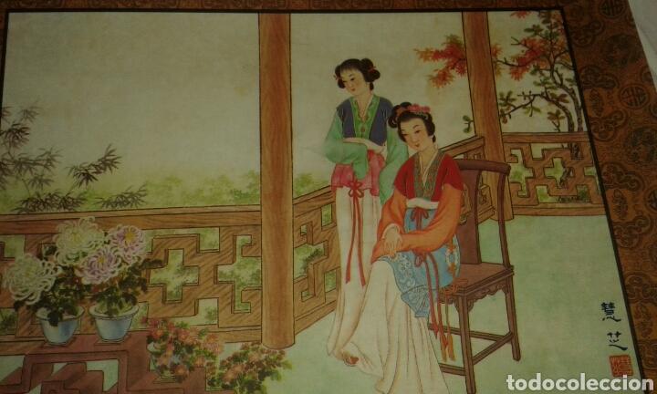 Arte: 6 litografías de personajes orientales y pájaros - Foto 5 - 77858647