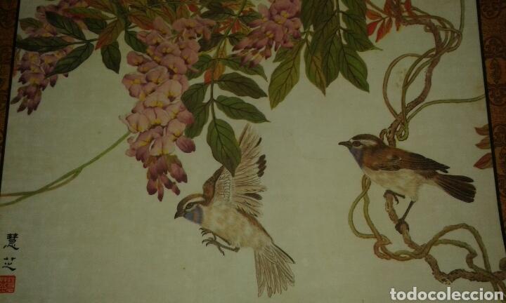 Arte: 6 litografías de personajes orientales y pájaros - Foto 6 - 77858647