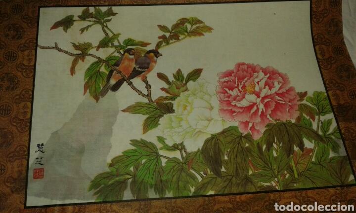 Arte: 6 litografías de personajes orientales y pájaros - Foto 7 - 77858647