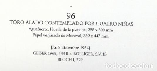 Arte: PICASSO LITOGRAFÍA FACSÍMIL TORO ALADO CONTEMPLADO POR CUATRO NIÑOS C.O.A SUITE GALLERY VERLAG 1956 - Foto 8 - 80604050