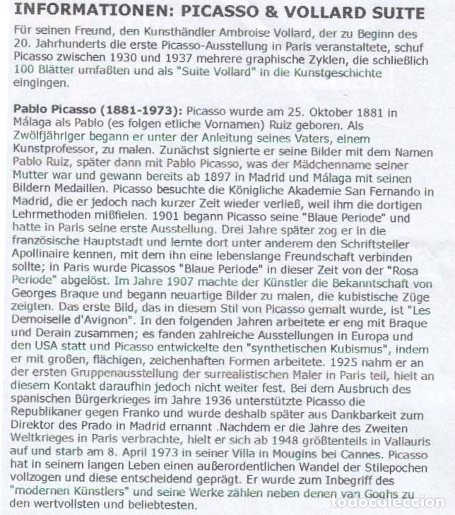 Arte: PICASSO LITOGRAFÍA FACSÍMIL TORO ALADO CONTEMPLADO POR CUATRO NIÑOS C.O.A SUITE GALLERY VERLAG 1956 - Foto 10 - 80604050