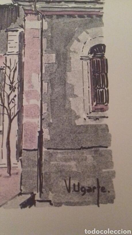 Arte: Litografia Catedral de Santa Maria Vitoria Victor Ugarte numerada y firmada - Foto 3 - 80678774