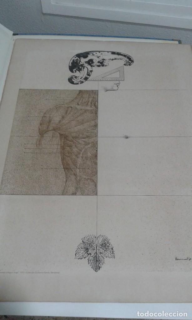 SUBIRACHS, PRUEBA DE IMPRESION PARA EL CARTEL HOMENAJE A MIGUEL ANGEL EN PAPEL ARCHES (Arte - Litografías)