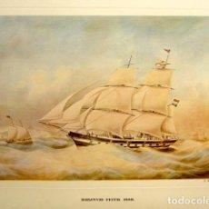 Arte: LITOGRAFÍA RHIJNVIS FEITHL. BARCO DE 1858. 44 X 32 CM . Lote 81519932