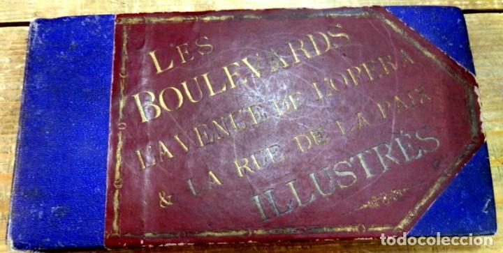 PARIS : LES BOULEVARDS L'AVENUE DE 'OPERA & LA RUE DE LA PAIX ILLUSTRE?S.SIGLO XIX, RARISIMO, LEER (Arte - Litografías)