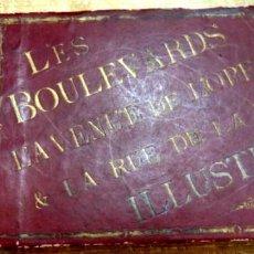 Arte: PARIS : LES BOULEVARDS L'AVENUE DE 'OPERA & LA RUE DE LA PAIX ILLUSTRE?S.SIGLO XIX, RARISIMO, LEER. Lote 81734124