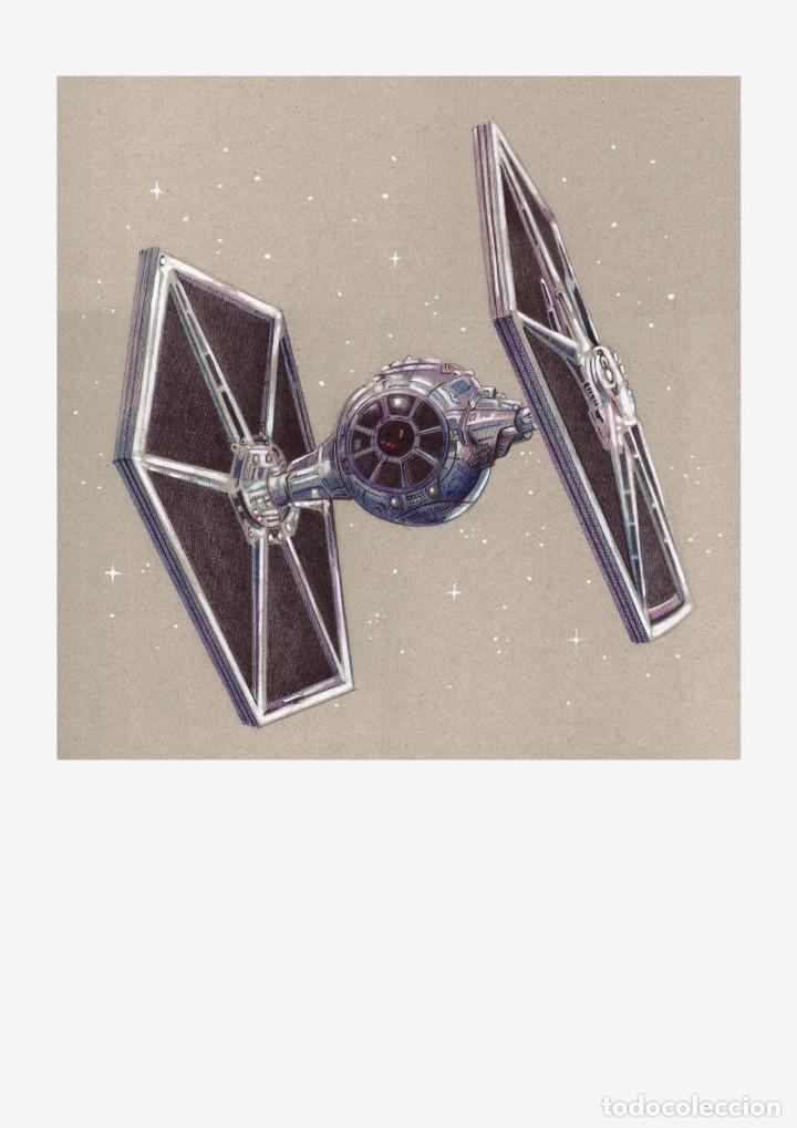 Arte: Carpeta con 4 láminas (tipo litografía). VEHÍCULOS -STAR WARS-. Autor: M. Alfaro - Foto 5 - 144021725