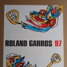 Arte: ANTONIO SAURA (HUESCA 1930-CUENCA 1998) LITOGRAFÍA OFFSET COLORES 57X75C DE ROLAND GARROS CATALOGADO. Lote 259933045
