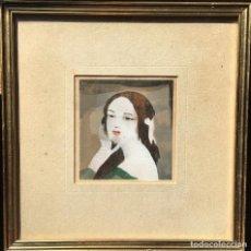 Arte: MARIE LAURENCIN (1883-1956) PINTOR FRANCÉS - LITOGRAFÍA - RETRATO DE MUJER. Lote 86057988