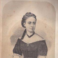Arte: CARLISMO. DOÑA MARGARITA. LITOGRAFÍA DE N. GONZÁLEZ, MADRID, ORIGINAL. C. 1870. Lote 86301296